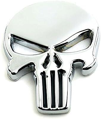 The Punisher Skull Car Motorcycle Waterproof 3D Metal Emblem Badge Decal Sticker