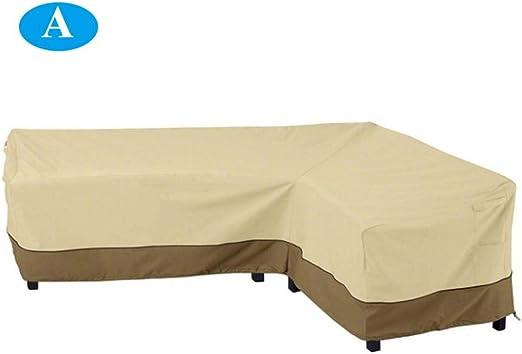 dianhai306 Esquina en Forma de L Cubierta de sofá Patio Exterior ...