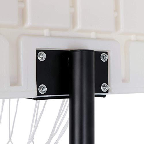 Nova Microdermabrasion Portable Basketball Hoop Stand Backboard System Adjustable-Height W/Wheels 5+ Years Kids Goal Indoor Outdoor 6.9ft (Black) by Nova Microdermabrasion (Image #7)