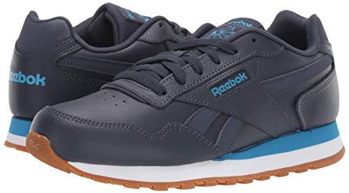 Reebok Men's Classic Harman Run Sneaker, Heritage navy/cyan/white, 3.5 M US