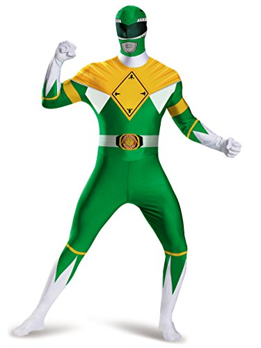 Disguise Men's Green Ranger Bodysuit Costume, Green, XX-Large