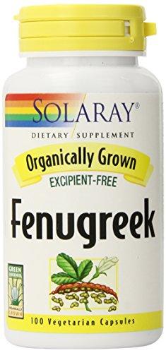 Solaray Organic Fenugreek Seed Supplement, 620 mg, 100 Count