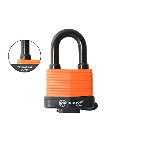Centurion WPP Laminated Waterproof Padlock, Wide Body - Weather Resistant Outdoor Padlock, 3 Keys Included (40mm Body) by Centurion USA (Image #1)