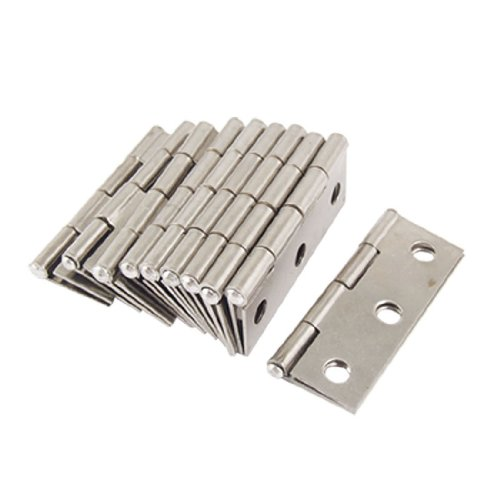 Onwon 10 Pcs Folding Butt Hinges Silver Tone Home