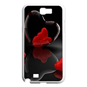 Vety Heart Glass 3d Reflection Ilike Samsung Galaxy Note 2 Cases, {White}