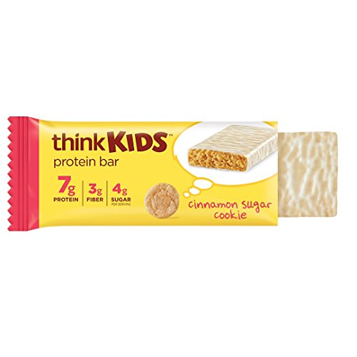 thinkKIDS Protein Bars – Cinnamon Sugar Cookie 7g Protein, 3g Fiber, 4g Sugar, No Artificial Flavors or Colors, Gluten Free, GMO Free*, 1 oz bar (5 Count)