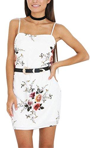 U-shot - Vestido - Túnica - Sin mangas - para mujer blanco
