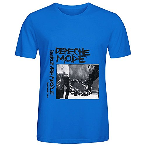 Depeche Mode People Are People Ep Rock Mens Crew Neck Casual T Shirt (Hippie Sticks Tricks)