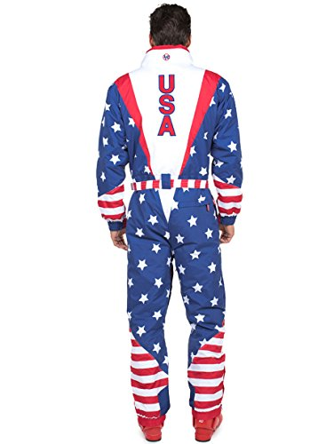 24eef2c774 Amazon.com   Tipsy Elves Men s American Flag USA Ski Suit - Stars and  Stripes Patriotic Retro Ski Suit   Sports   Outdoors