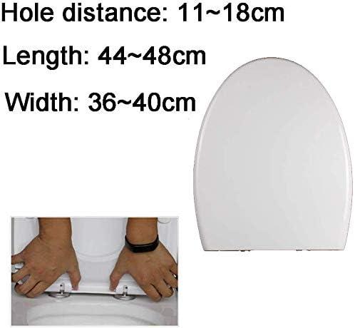 便座ふた便座、U/V/O型厚手対応便座、ミュート付き、超耐性、設置が簡単な便器付属品、白-44〜48 * 36〜40cm