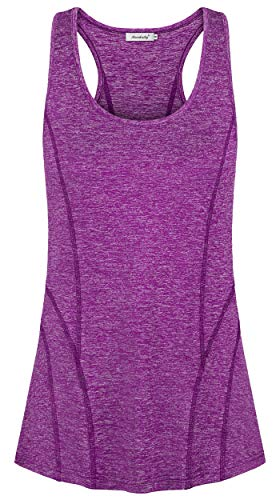 (Ninedaily Athletic Tank Tops for Women,Workout Clothing Form Fitting Slimming Airy Active Shirts & Tees Pilates Sexy V Neck Elastic Band Bottom Adult Volleyball Wear Juniors Trendy 2019 Blouse 4 6 )