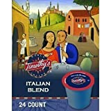 TIMOTHY'S ITALIAN BLEND K CUP COFFEE 96 COUNT by Timothy's World Coffee