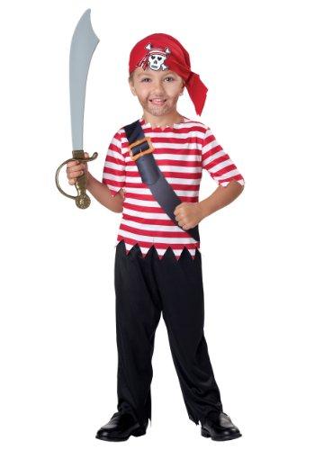 Baby - Toddler Pirate Costume 18 (Striped Shirt Pirate Costume)