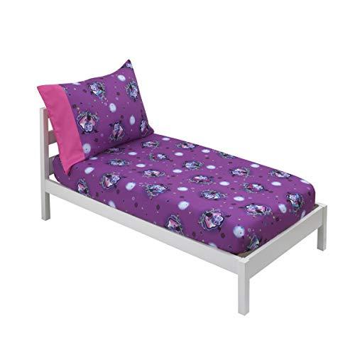 Disney Vampirina - Purple & Pink 2 Pack Toddler Fitted Crib Sheet & Standard Size Pillowcase Set, Purple, Pink