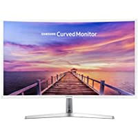 2018 Samsung 32' Full HD Curved Widescreen 16:9 LED-backlit Monitor with FreeSync, 250 cd/m², 3000:1, 4ms, MagicBright, Game Mode, Eye Saver Mode, VGA, HDMI, Headphone, Glossy White
