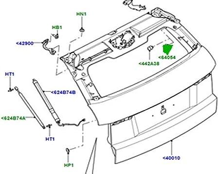 Land Rover Range Rover Genuine font Parcel Shelf Corde Pivot Paire LR074992