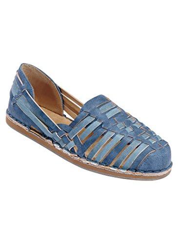 AngelSteps Women's Adult Huarache Slide Sandals 10 Medium US Women/Blue Multi