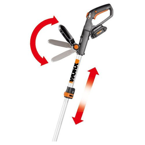 WORX WG163 GT 3.0 20V Cordless Grass Trimmer/Edger with Command Feed, 12'', 2 Batteries and Charger Included by Worx (Image #3)