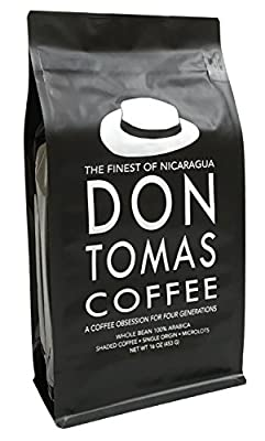 Nicaraguan Don Tomas Coffee (1 Pound) - Super Rich, Great Aroma - Whole Coffee Beans - Fresh Coffee Beans