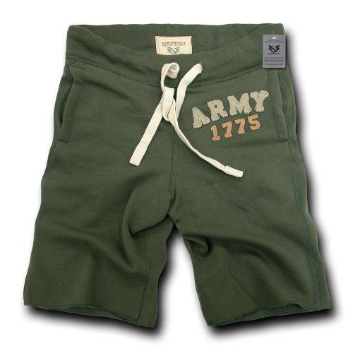 Rapiddominance Army Normandy Fleece Shorts by Rapid Dominance by Rapid Dominance