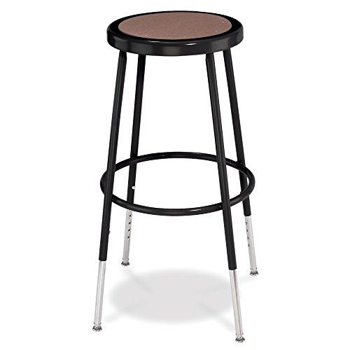 National Public Seating Adjustable Steel Stool - 25-33in.H, Black, Model# (Five Seating)