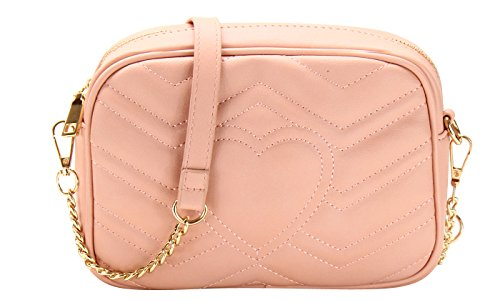 Crossbody Designer Chevron Inspired Pink Quilted Bag qrwxCtra