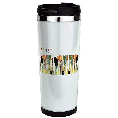 Aceo-Artist-Mug-02 Stainless Steel Travel Mug, Insulated 14 oz. Coffee Tumbler.