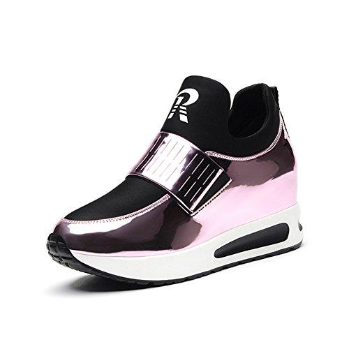 De Del Rosado Los Shook Mujeres Ocasionales Zapatos color Casuales Sacudiendo Verano 2018 Mujeres Las Tamaño 36 Respirables Aumentan qF5WSwxC1n