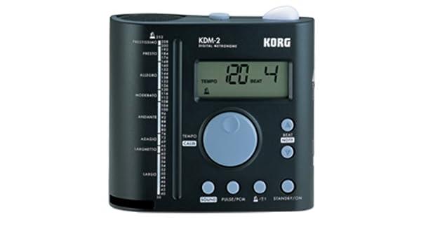 Amazon.com: METRONOMO ELECTRONICO - Korg (KDM/2) (Pantalla Digital) (Tiempo con Luz) (Salida de Auriculares): Musical Instruments