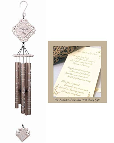 Inside Our Hearts Sympathy Gift Wind Chime to Send for Funeral Or Memorial When Someone Loses A Loved One