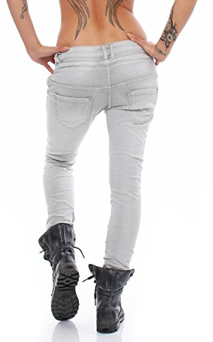 Skutari Harem - Pantalones vaqueros ajustados para mujer Betongrau