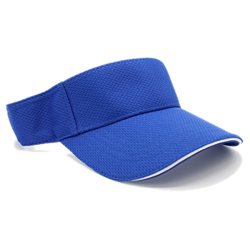 Royal Visor - LAFSQ Moisture Management Out Door Sports Sun Visors, Quick Dry Hat (Royal)