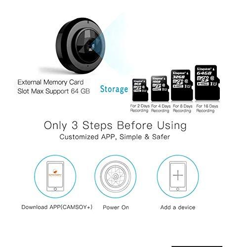 WG Micro WiFi Mini Camera C6, HD 720P Smartphone App Night Vision IP Home  Security Video Cam Camcorder,Mini Camera Wireless DV DVR Camera Video Voice