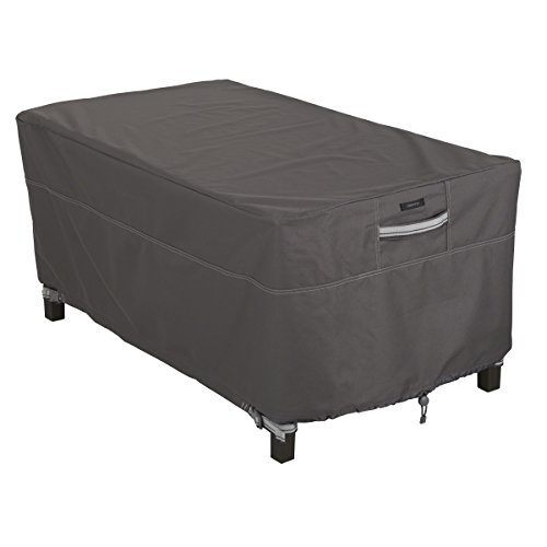 Classic Accessories Ravenna Rectangular Patio Coffee Table Cover - Premium Outdoor Furniture Cover with Durable and Water Resistant Fabric (Outdoor Rectangular Coffee Table)