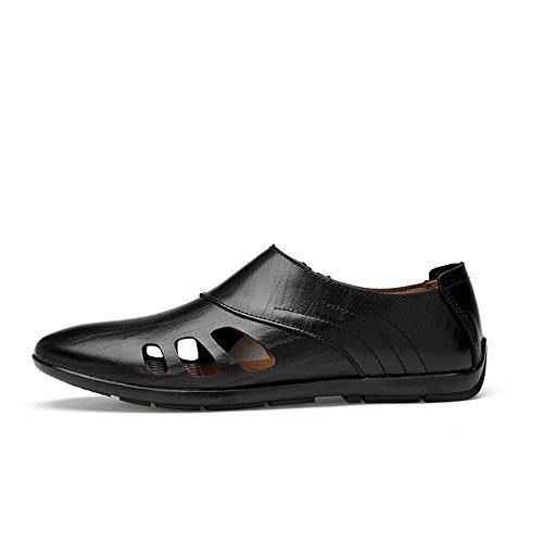 para Casuales Black para Hollow Zapatos Mocasines Barcos sintético Hombres Cuero Huecos Mocasines de Opcionales dfpqRHd