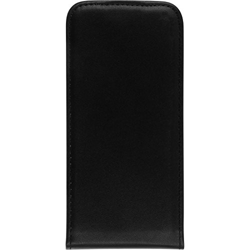 Couverture en cuir artificiel pour Apple iPhone 7 - Flip-Case noir - Cover PhoneNatic Cubierta + films de protection