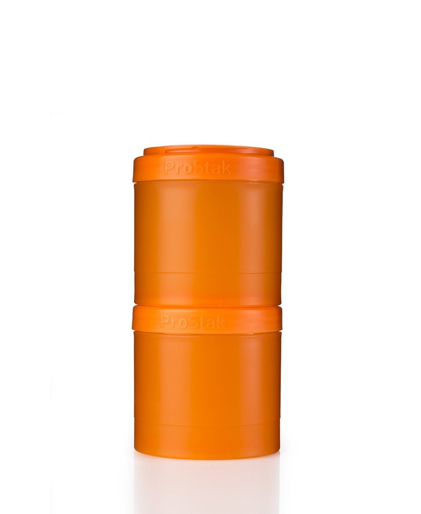 BlenderBottle ProStak Twist n' Lock Storage Jars Expansion 2 Pak with Pill Tray, Black C01165
