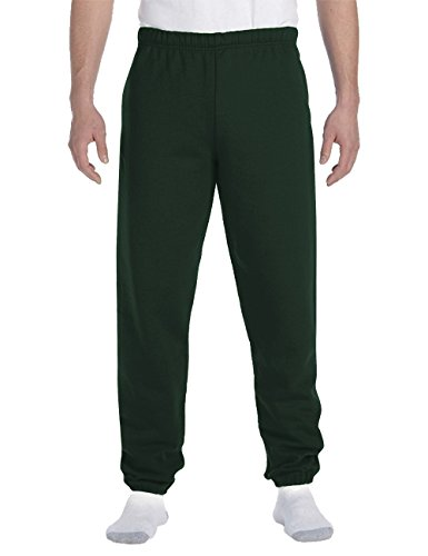 Hat and Beyond Mens Lightweight Sweatpants Elastic Pockets Jogger Pants (Medium, 1ih02_Hunter Green)