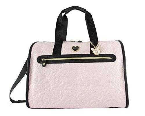 - Betsey Johnson Rose Quilted Weekender Duffel Bag - Blush Multi