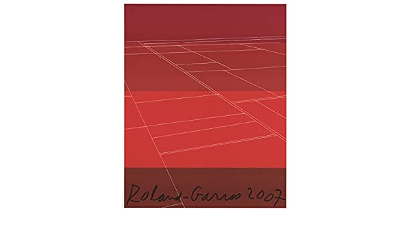 """KATE SHEPHERD Roland Garros French Open 30/"""" x 23.5/"""" Poster 2007 Contemporary Red"""