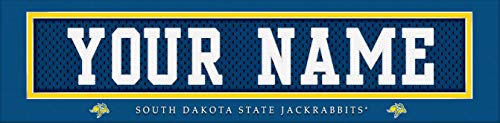 South Dakota State Jackrabbits College Jersey Nameplate Wall Print, Personalized Gift, Boy's Room Decor 6x22 Unframed Poster