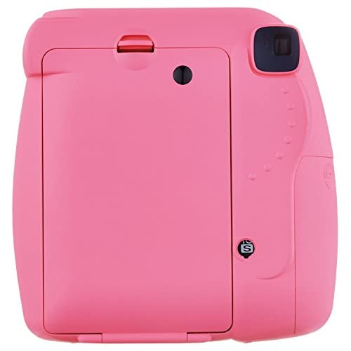 Fujifilm Instax Mini 9 (Flamingo Pink) w/Groovy Case & Film Bundle