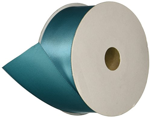 Kel-Toy Double Face Satin Ribbon, 1/4-Inch by 100-Yard, Teal]()