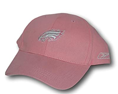 Philadelphia Eagles Women's Pink White Logo Adjustable Hat Lid Cap by Fan Apparel