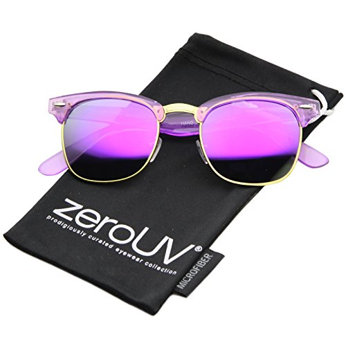 zerouv-classic-transparent-frame-color-mirror-square-lens-horn-rimmed-sunglasses-49mm-purple-purple-