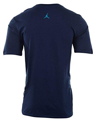 T-shirt Ras Du Cou Jordan Homme Bleu Marine / Blanc / Bleu Lagon