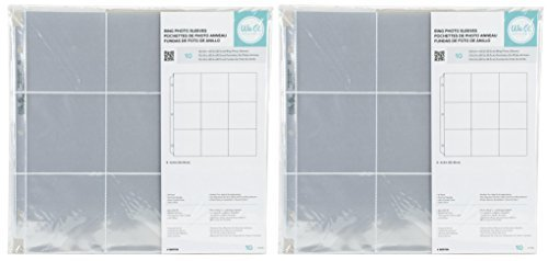 Archival Sleeve Refills - 2-PACK - We R Memory Keepers 12 x 12 inch (9 - 4 x 4 inch pockets) 3-Ring Album Photo Sleeve Protectors , 10 Pk