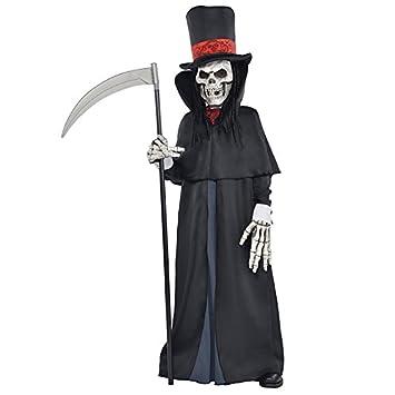 Adolescentes Halloween Dapper Esqueleto De La Muerte Segador Sombrío Disfraz - 14-16 Años