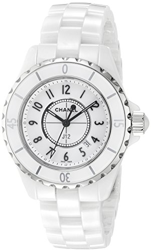 Chanel Women's H0968 Analog Display Quartz White Watch
