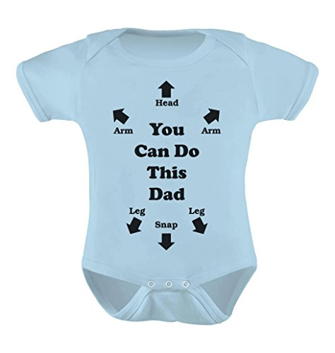 you can do this dad funny christmas gift for new dads cute baby bodysuit newborn light blue